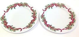 "Williams-Sonoma Garland Christmas 7-3/4"" Salad/Dessert Plates ~ Set of 2 - $29.99"