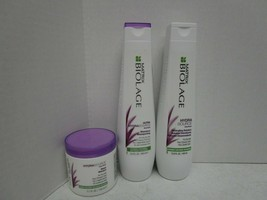 MATRIX BIOLAGE HYDRASOURCE SHAMPOO, MASK, DETANGLING 3PACK - $45.53
