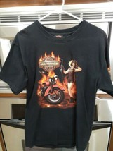 Offical Adult Black Size Medium Harley Davidson of Dallas Short Sleeve T... - $12.95