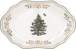 Spode Christmas Tree Gold Oval Platter - $80.00