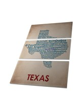 """Pingo World 0126Q98PM8S """"State of Texas Local Cities Map"""" Wrapped Triptych Canva - $128.65"""