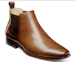 Florsheim Palermo Plain Toe Gore Boot Chelsea Smooth Leather Cognac  121... - €145,64 EUR