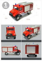 Fire Fighting Department Die-Cast Car Helicopter Tow Ladder Truck Vehicle Toy image 2