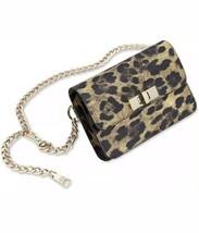 Steve Madden Bobby Belt Bag Leopard Black Fanny Pack Medium Large Gold C... - $35.75