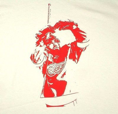 Primary image for Detroit Red Wings Henrik Zetterberg White T Shirt NHL Sz XL Extra Large