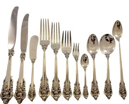 Grande Baroque by Wallace Sterling Silver Flatware Service 12 Set 145 pc... - $9,540.00