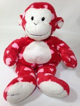 Ty Pluffies Harts Plush Red White Monkey Pink Hearts 2006 Stuffed Tylux Beanie - $19.99