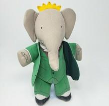 """12 """" Vintage Barbar Gris Éléphant The Toy Works Main Marionette Animal en - $26.90"""