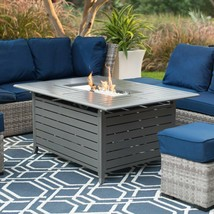 Outdoor Fire Pit Table Patio Gas Propane Heater Deck Backyard Fireplace ... - $763.19