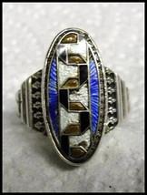Original 1920s Art Deco Enamel and Sterling Egyptian Snake Ring - $100.00