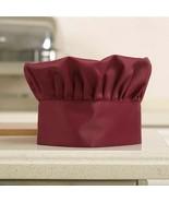 Professional Wine Red Hotel Restaurant Chef Hat  Cap Kitchen Work Cook  ... - $11.56