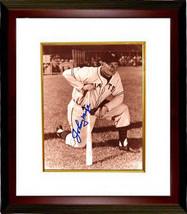 Johnny Mize signed New York Giants Sepia 8x10 Photo Custom Framed (kneel... - $79.95