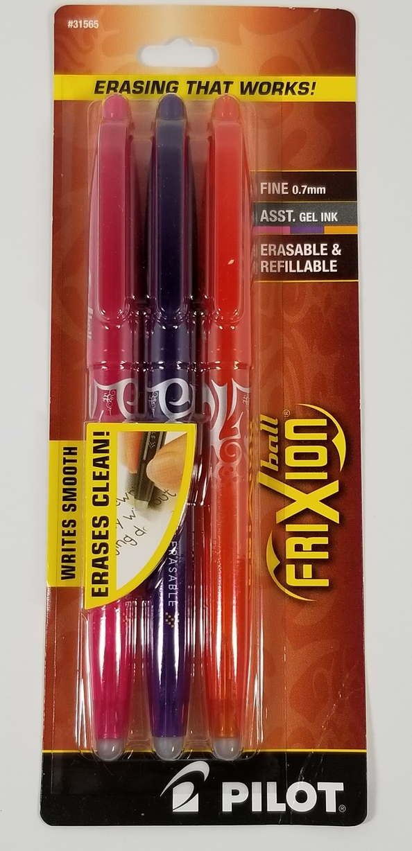 Primary image for Pilot Frixion  Iron Erasable Gel Pen 3 Set Fine .7mm