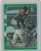 2019 BOWMAN CHROME MEGA BOX MOJO GREEN REFRACTOR BLAKE RUTHERFORD RC 56/... - $2.99