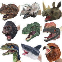 Simulation Dinosaur Animal Head Model Hand Puppet Party Toy Doll Gloves ... - $14.95+