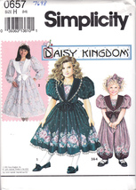 Simplicity 0657 or 7698 Girls Sewing Pattern Childs Romper Dress Sizes 3... - $7.49