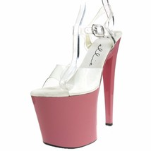 ELLIE Shoes High Heel Platform Sandals Exotic Dancer Ankle Strap 821-BRO... - $56.95
