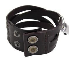 Guess Men's Braided Cuff Wristband Bracelet Cross Road Black 102252 image 2