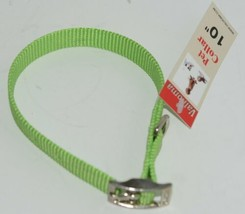 Valhoma 720 10 LG Dog Collar Lime Green Single Layer Nylon 10 inches Package 1 image 1