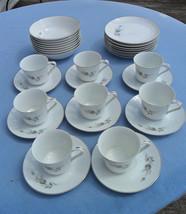 31 Piece Set Wyndham Fine China  MALTESE ROSE 673 Cup Saucer Bowl Plate - $24.75