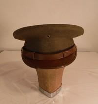 Original WW2 US Army Officer's Crusher Visor Hat 7 5/8 Named Boston Stor... - $116.86