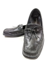 """What's What by Areosoles """"Sew Far"""" Womens Sz 10m Black Leather Loafers (... - $19.99"""