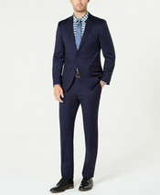 NEW MENS TOMMY HILFIGER PERFORMANCE STRETCH NAVY BLUE 2 PC SUIT 36 SHORT... - $138.59