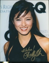 Kelly Hu signed color Aloha photo. Beautiful !! - $26.95