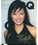 Kelly Hu signed color Aloha photo. Beautiful !! - $26.95