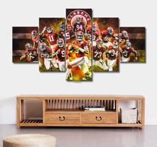 Alabama Crimson Tide College Canvas Five Piece Large Framed Wall Print D... - $126.99