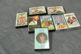 Vintage Set of 8 60's, 70's & 80's Music Cassettes Including Elvis Presley - $14.84