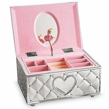 Lenox Musical Ballerina Dancing Jewelry Box Pink Tutu Fur Elise Hearts G... - $106.92