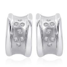 0.20 Carat Diamond Classic Hoop Earrings 14K White Gold - $364.42