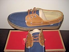 Vans Mens Chauffeur SF C&L Dark Navy Blue Brown Boat casual Shoes size 6... - $38.79