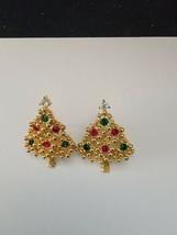 VINTAGE RHINESTONE CHRISTMAS TREE PINS SET OF 2 - $5.93