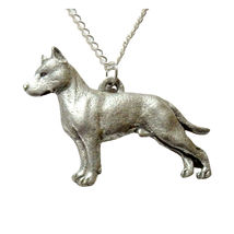 American Staffordshire Terrier Dog Necklace 625 - $32.00
