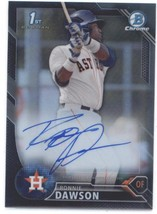 2016 Bowman Chrome Draft Pick Autographs Refractors Black Ronnie Dawson ... - $30.00