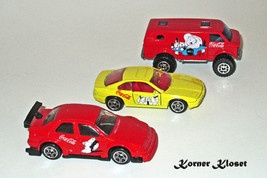 Lot of 3 Matchbox Coca-Cola Bear Cars - Alpha Romeo, BMW 850i & 4x4 Chev... - $19.30