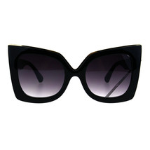Womens Thick Plastic Bat Shape Cat Eye Butterfly Sunglasses - $9.95