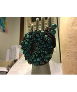 Crochet Turquoise Bracelet Hand Mad - $24.00