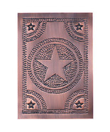 Solid copper new punched STAR cabinet panel / Nice - $24.00