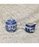 Vintage, Japan  3-pc Blue Willow Creamer and Sugar - $28.45