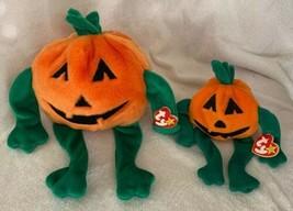 """Ty Original Beanie BUDDY Pumpkin' NEW 1999 14"""" & Babies 8"""" 1998 MWMTs - $14.99"""
