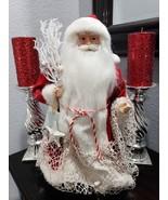 "Christmas Coastal Beach Sea Shells Red Santa Claus Doll Figurine Statue 18"" - $52.99"
