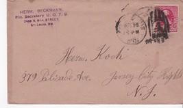 HERM BECKMAN FIN. SECRETARY U.O.T.B. SAINT LOUIS, MO 1892 - $2.98
