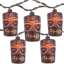 Sienna 10 Tropical Paradise Brown Tiki Garden Patio Lights - Brown Wire - ₨1,388.47 INR