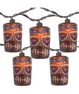 Sienna 10 Tropical Paradise Brown Tiki Garden Patio Lights - Brown Wire - £14.99 GBP