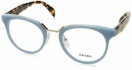 Authentic Prada Eyeglasses VPR03U VX7-1O1 Blue Gold Frames 51mm Rx-ABLE - $118.79
