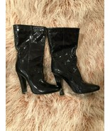 AUTHENTIC Jimmy Choo High Heels Boots Shiny  7/37 - $279.25
