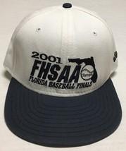 Florida High School Hat FHSAA Baseball Finals 2001 Cap Med Large Tournament FL - $12.86